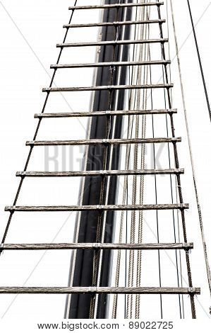 Ladder On Mast Isolated On White