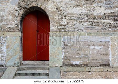 Ancient Old Wooden Door