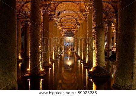 Basilica Cistern, Istanbul, Turkey.