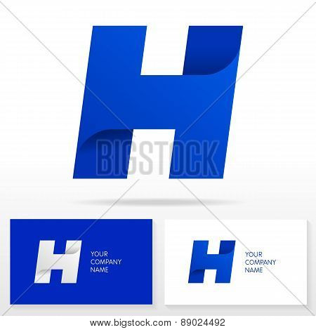 Letter H logo icon design template elements - Illustration.