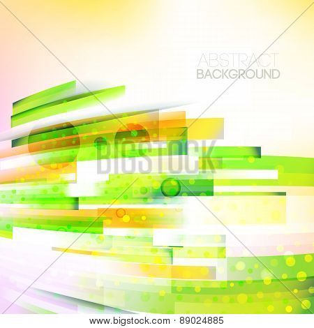 Abstract Bottom Oriented Color Wave, Living Lines Illustration