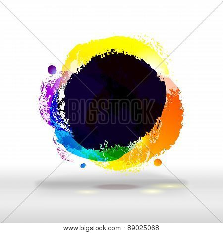 Modern Festive Bright And Dark Colorful Buble