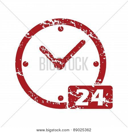 Best red grunge clock logo