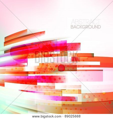 Abstract Bottom Oriented Red Colors Wave, Living Lines Illustration