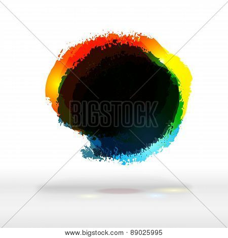 Modern Festive Colorful Buble With Dark Place For Text