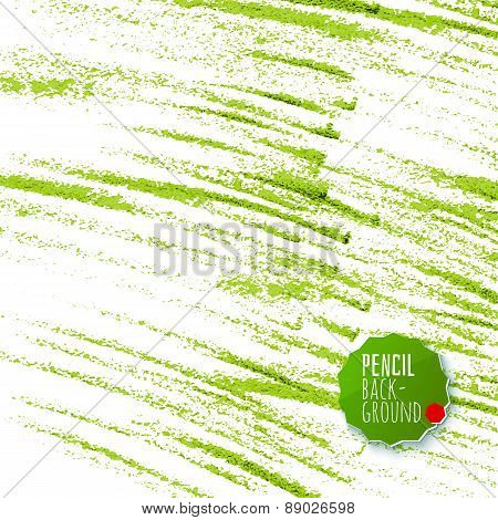 Green Pencil Strokes Abstract Background