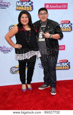LOS ANGELES - APR 25:  Raini Rodriguez, Rico Rodriguez at the Radio DIsney Music Awards 2015 at the Nokia Theater on April 25, 2015 in Los Angeles, CA