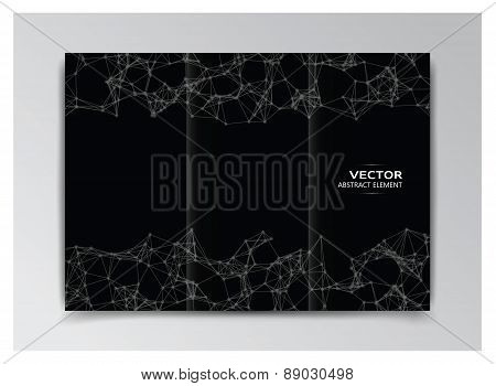 Black Template Of Booklet With Abstract Elements