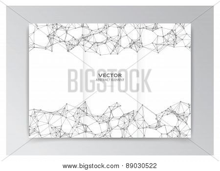 White Template Of Booklet With Abstract Elements