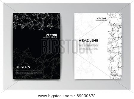 Template Of Brochure With Abstract Elements