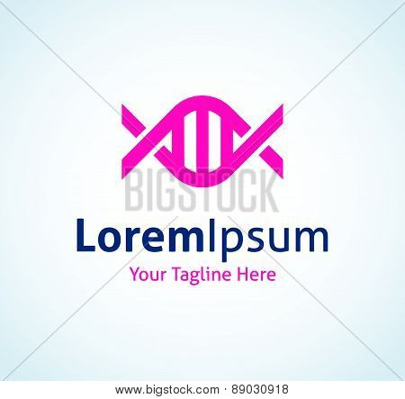 DNA genetic code material medical string spiral vector logo icon