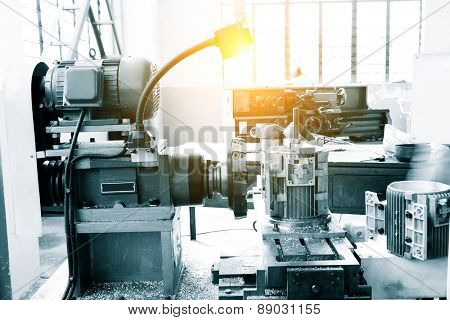 Industry lathe machine detail
