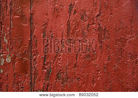 Red Painted Wooden Panel, Background, Wallpaper