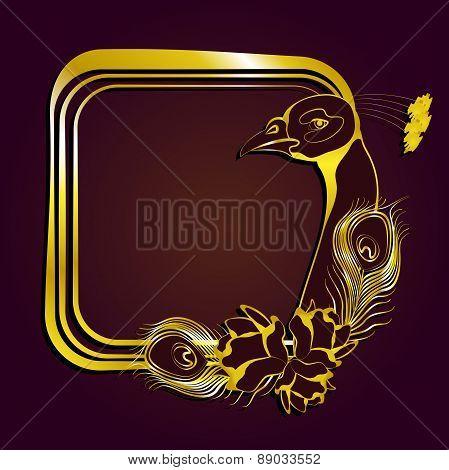 Frame Gold Peacock