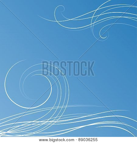 Abstract blue background with some swirls