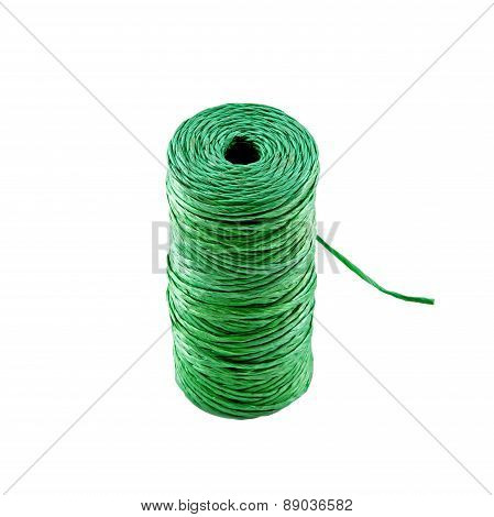 Gardener's Twine or String Isolated On White Background.