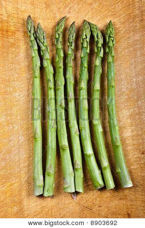 A Row Of Asparagus