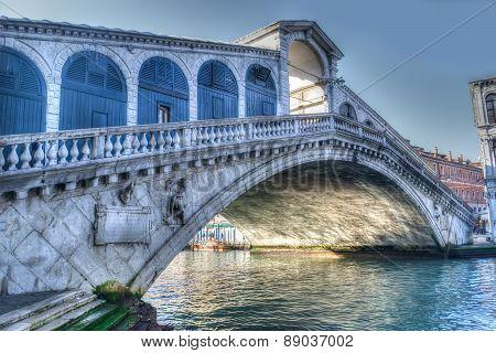 Rialto Bridge Under A Gray Sky
