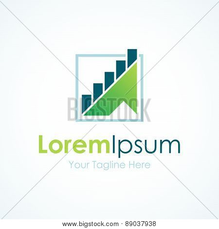 Steps to success graphic business green arrow industry element icon logo