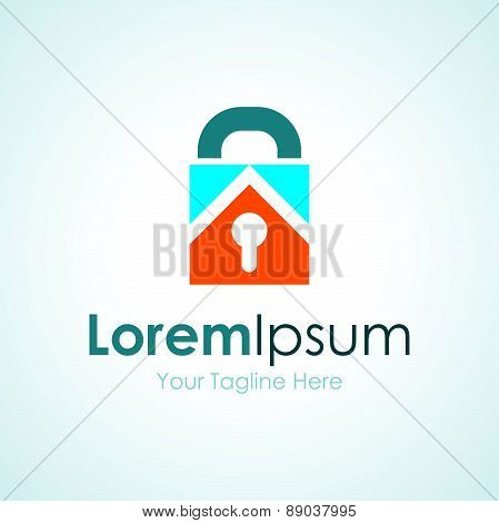 Key lock real estate bussiness element icon logo
