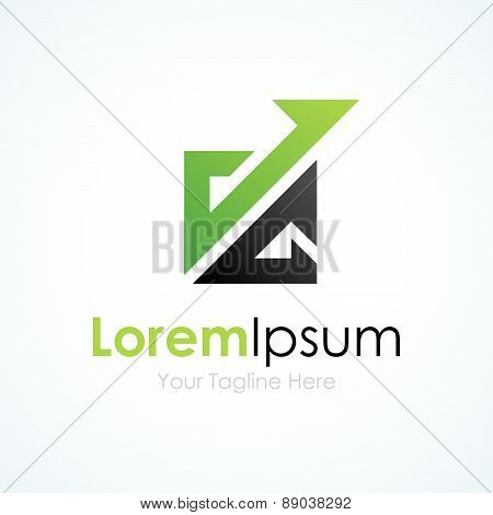 Banking system productivity business element icon logo