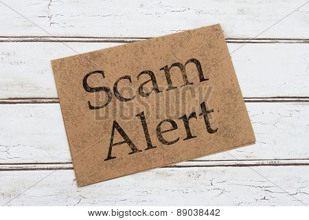 Scam Alert Warning Card