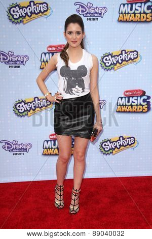 LOS ANGELES - APR 25:  Laura Marano at the Radio DIsney Music Awards 2015 at the Nokia Theater on April 25, 2015 in Los Angeles, CA