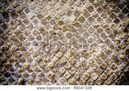Stone Brick Wall Texture With Vignette Effect, May Use As Background