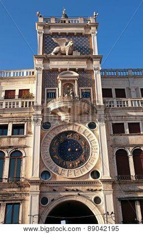 Torre Dell Orologio (Clock Tower) In Venice, Italy
