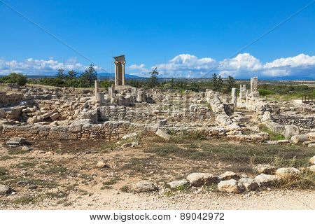 Historic ruins in Cyprus