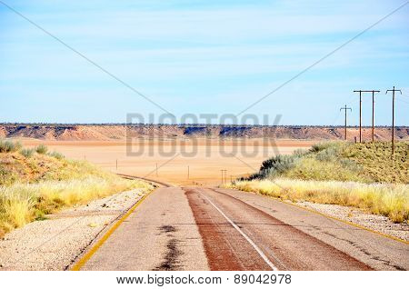 Road through Koopan in South Africa, Africa