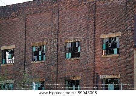 Broken Windows on an Old Factory