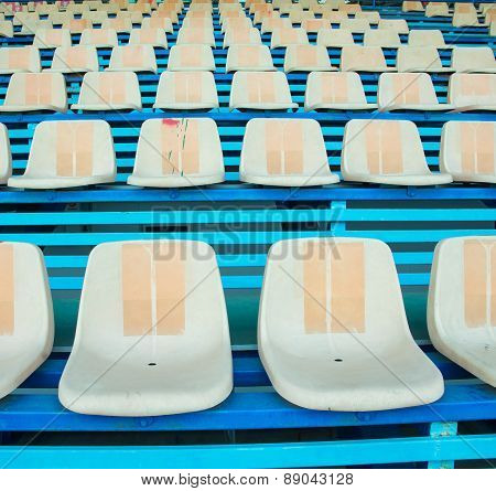 Sport Stadium Chair On Bleachers