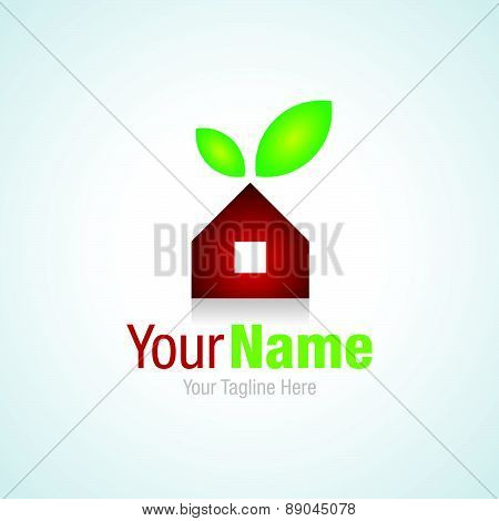 Home sweet home cherry real estate simple business icon logo