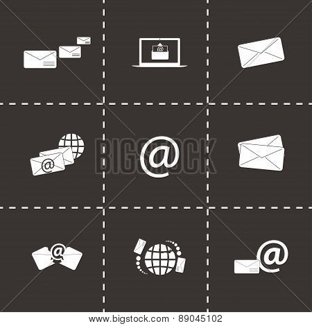 Vector email icons set