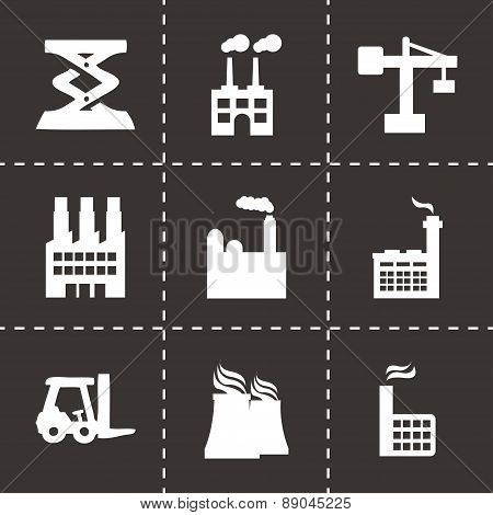 Vector factory icons set