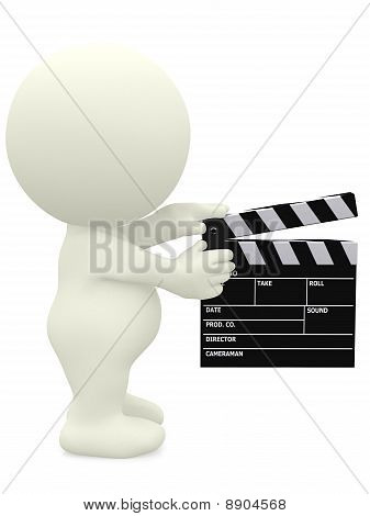 3D Man With A Film Klappe