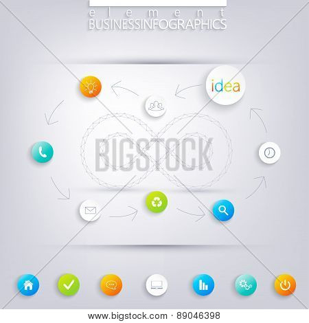 Modern infographic design with place for your text. Can be used for workflow layout, diagram, chart,