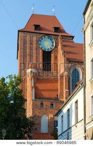 A gothic church in Torun, Poland.