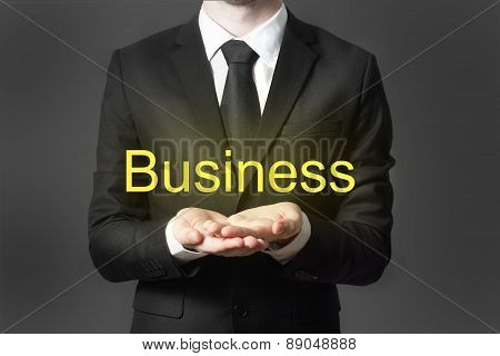 Businessman With Open Hands Business
