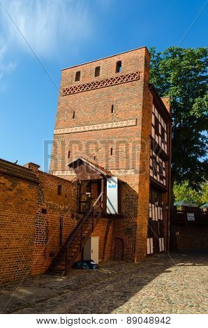 The Leaning Tower (Krzywa Wieza) in Torun, Poland.