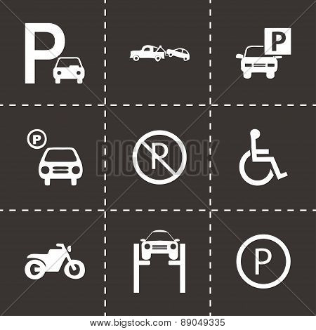 Vector parking icons set