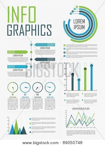 Stylish infographics collection for business data presentation.