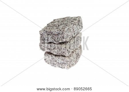 Granite blocks.