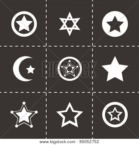 Vector stars icon set