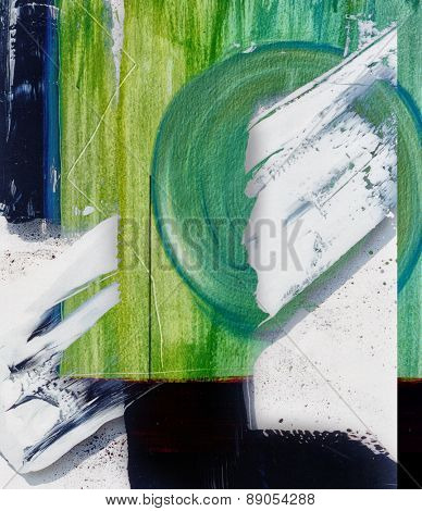Nice Image of an Abstract painting On paper