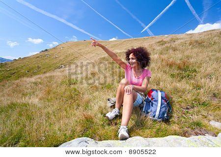 Pretty Woman In An Alpine Landscape