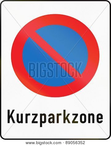 Short-term Parking Zone In Austria