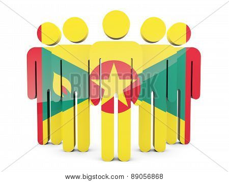 People With Flag Of Grenada