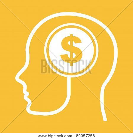 think design over yellow background vector illustration